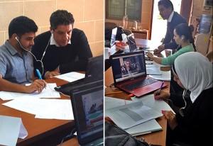 Trainees coinvolti in esercizi pratici di media monitoring. © UNESCO
