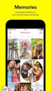 Snapchat App Memories