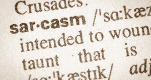 sarcasmo e monitoraggio dei media
