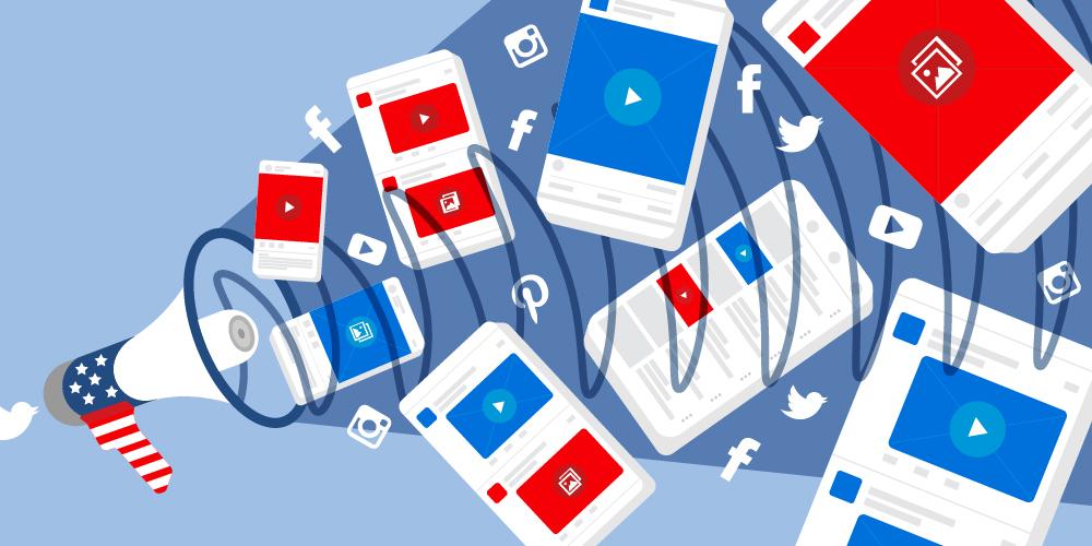 elezioni social media