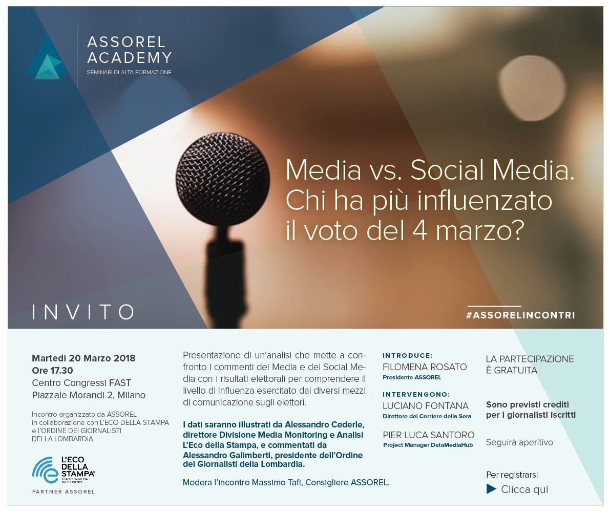 elezioni Media vs Social Media