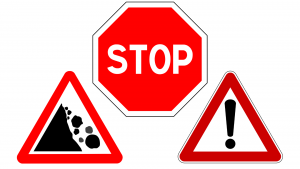 stop, pericolo, attenzione