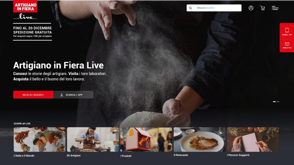 Artigianato in Fiera Live homepage