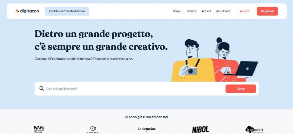 Digitazon sito freelance; digitale; liberi professionisti; freelance; creativi digitali; Digitazon