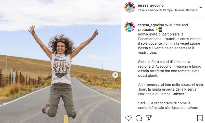 Instagram; turismo sostenibili; green; ambiente; sostenibilità