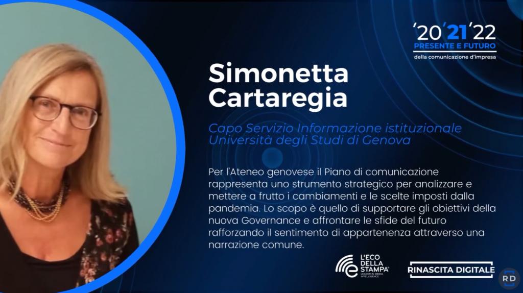 Simonetta Cartaregia, capo servizio informazione istituzionale dell'Università degli studi di Genova: intervento sui cambiamenti nella comunicazione in UniGe